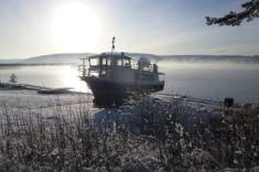 The Osprey ferry on Kielder Water in Northumberland